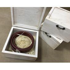 Коробка для ремня 170x170 (белый дуб)