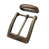 Buckle ZAC-2045 35mm with loop (Antique Brass)