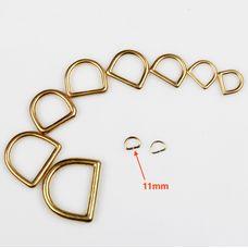 D-ring Wuta 11 mm (Brass)