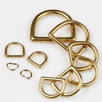 D-ring Wuta 13mm (Solid Brass)