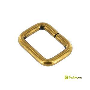 Square loop BG-1957 19mm (Antique brass)