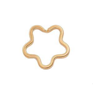 Кольцо витое, плоское Звезда (сталь,золото)