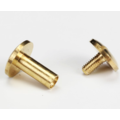Chicago Screw Brass 10x10mm (rounded)
