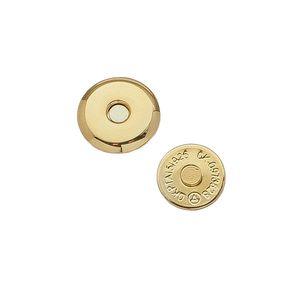 Кнопка магнитная 18мм (ультратонкая, золото)