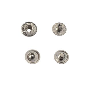 Hato Snap button #54 10mm (S-spring, Nickel, Hidden)