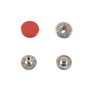 Hato Snap button #54 12.5mm (S-spring, Red)