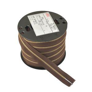 Zipper Riri ME6 2224 (Gold, Brown)
