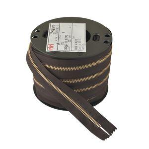 Zipper Riri ME6 2226 (Gold, Dark Brown)