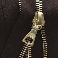 Zipper Riri ME4 GE 2226 (18cm, Gold, Dark Brown)