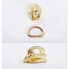 Slider with D-ring YKK Excella #3 (Brass)