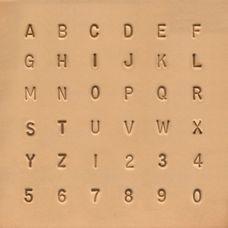 Набор штампов Алфавит Простой с цифрами 6,5мм